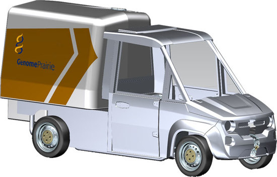 Illustration of the Mobile Lab Van